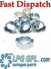 LPG GPL autogas hose pipe O clips 9-12 mm x 10 used for injector hose.