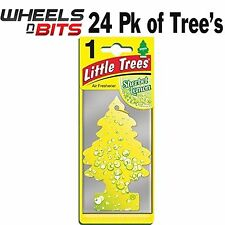 24x Sorbetto Limone Profumo Magic Tree Piccolo Alberi Auto Casa Deodorante