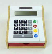 IKEA Kids Calculator Toy Wood Cash Register Play Money Shop Store Credit Card