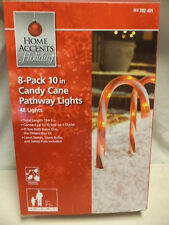 "NEW-8 Pack 10"" Candy Cane Patway Lights/Markers"