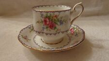 Royal Albert Tea Cup Saucer Pattern is PETIT POINT Needle Point flowers LQQK