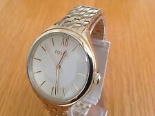 Fossil Ladies Gold Tone Stainless Steel Three Hand Dial Watch BQ3050
