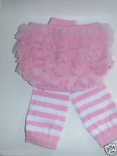 NEW Baby girl Leg Warmers  0-24 MONTHS stripes pink diaper cover bloomer set