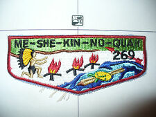 OA Me She Kin No Quah Lodge 269,S-3d,1960s Turtle Flap,173,425, Meshingomesia,IN