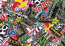 3 x A3 Sticker Bomb Sheet - JDM EURO DRIFT VW - Design 332 - (297MM x 420MM)