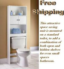 Bathroom Over The Toilet Space Saver Storage Cabinet Shelf Organizer White