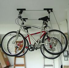 Ceiling Mounted Roof Bicycle Rack Garage Pulley Racks Stand Storage Systems