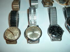 Lot of Mens Old Watches Bulova Accutron 214, Wyler Dynawind, Criterion, Timeband