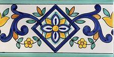 Ceramica Vietri 40 Pz.Listelli 10x20 Decorati a Mano Consegna in 7 gg.Lavorativi
