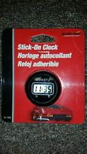 2 ROUND STICK ON CLOCKS, BLACK, DIGITAL, #54-100, CAR, TRUCK, ANYWHERE, NEW