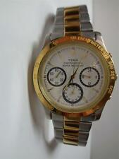 YEMA Chronograph Quartz Mens Wristwatch Tachymeter New Battery