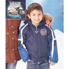 NWT Disney Pixar Cars Hooded Winter Jacket Coat Boys 7 Navy Blue