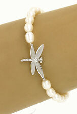 Tiffany & Co.18k White Gold Diamonds & Pearls Dragonfly Bracelet
