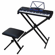 54 Keys Teaching Keyboard DynaSun MK4500 with USB port Piano Bench Stand Support