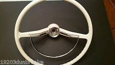 vintage vw volkswagen bug type 3 karmann ghia steering wheel chrome horn ring