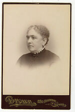 Cabinet Photo-Chelsea, Massachusetts, Older Lady, Short Curly Hair -Brown Studio