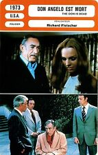 Movie Card. Fiche Cinéma. Don Angelo est mort / The Don is dead (U.S.A.) 1973