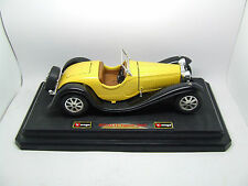 BURAGO BUGATTI TYPE 55 1932 IN YELLOW AND BLACK OPENING BONNET AND BOOT