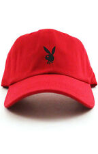 Playboy Bunny Custom Red Unstructured Baseball Dad Hat Cap New - Black Bunny