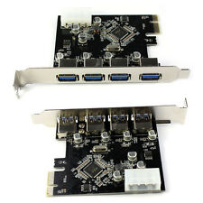 4-Port USB 3.0 To PCI-E Card Express Expansion Card Adapter VIA 5Gbps Reliable