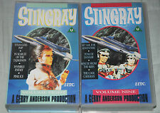 STINGRAY-Volumes Eight & Nine  2 VHS Video Tapes; (8 episodes); Gerry Anderson