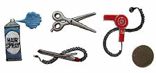 #4169 Hair Dryer,Scissors,Hair Spray,Splint hair straightener Embroidery Patch