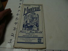 vintag travel paper--1959 MONTREAL STREET MAP
