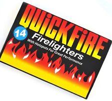 NEW 14 PACK QUICKFIRE FIRE LIGHTER QUICK FORMULA HOTSPOTS PLACE WOOD BURNER BBQ