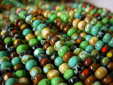 """6/0 Czech 3 Cut Seed Beads- Multi Picasso Mix (1/20"""") #613"""