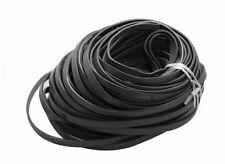5m Cowhide Leather Cord Thread Jewelry Cord Black 10x2.5mm Craft String Material
