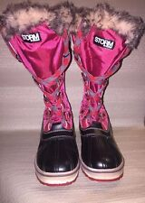 Storm by Cougar Aspen Faux Fur Rubber Boots Women's Size 6M
