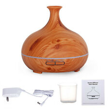 Cool Mist Humidifier Ultrasonic Aroma Essential Oil Diffuser 300ML Wood Grain