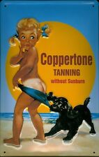 Coppertone Tanning Blechschild Schild Blech Metall Metal Tin Sign 20 x 30 cm