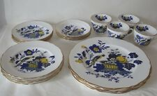 SPODE BONE CHINA BLUE HARVEST BLUE BIRD S3274 SERVICE FOR 4 - 20pc SET EXCELLENT