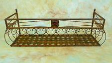 2x 80cm Wand-Blumenkasten Eisen Balkonkasten 0946427s-a