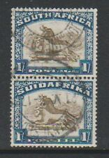 South Africa - 1932, 1s Vertical Pair - G/U - SG 48