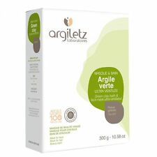 Argiletz Green Clay 300g - Ultra-Ventilated Powder for Face Mask Poulitices