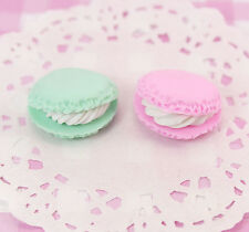 4 x Clay Macaroons 3D Cabochons Decoden Kawaii Embellishments Crafts