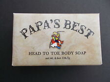 Papa's Best Antifungal Tea Tree Oil Soap For Athletes Foot Jock Itch Acne 4.4 Oz