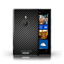 STUFF4 Case/Cover for Nokia Lumia 925/Carbon Fibre Effect/Pattern/Grey