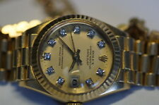 Rolex Lady Datejust ref.6917, 750er/18k ORO/Brillante Foglio e catena di backup