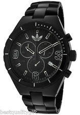 NEW ADIDAS CAMBRIDGE BRUSHED BLACK ALUMINUM BAND CHRONOGRAPH WATCH+DATE ADH2576