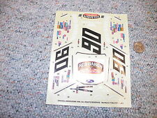 Revell  decals 1/24 1/25 Red baron T-Bird J122