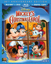 Disney Mickey's Christmas Carol (Blu-ray+DVD+Digital HD, 2-Disc-NO Slipcover)New