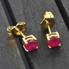 Vintage Womens Hoop earrings Korean Gold Filled Red crystal wholesale lot