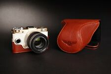 Genuine real Leather Full Camera Case bag for Pentax QS1 8.5 5-15 15-45mm Lens