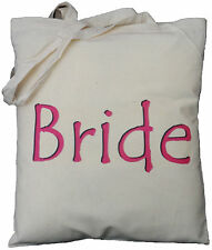 BRIDE COTTON TOTE BAG Wedding Day HEN NIGHT GIFT