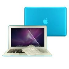 "3 in 1 Rubberized AQUA BLUE Case for Macbook AIR 13"" A1369 Key Cover +LCD Screen"