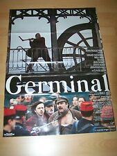 GERMINAL - Kinoplakat A1 ´94 - GERARD DEPARDIEU - Miou-Miou