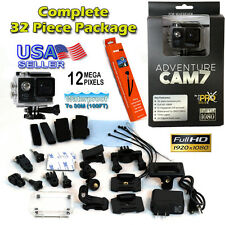 Full HD 1080p Sport Action Helmet Cam 7 with free GoPro Accessory Kit Hero 3 W/S